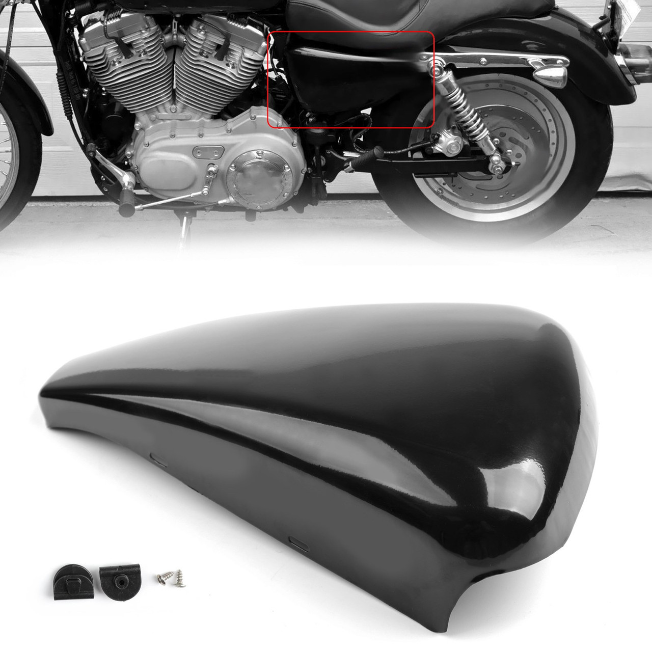 1 piece Left Side Battery Cover For Harley Sportster XL883 XL1200 2004-2018