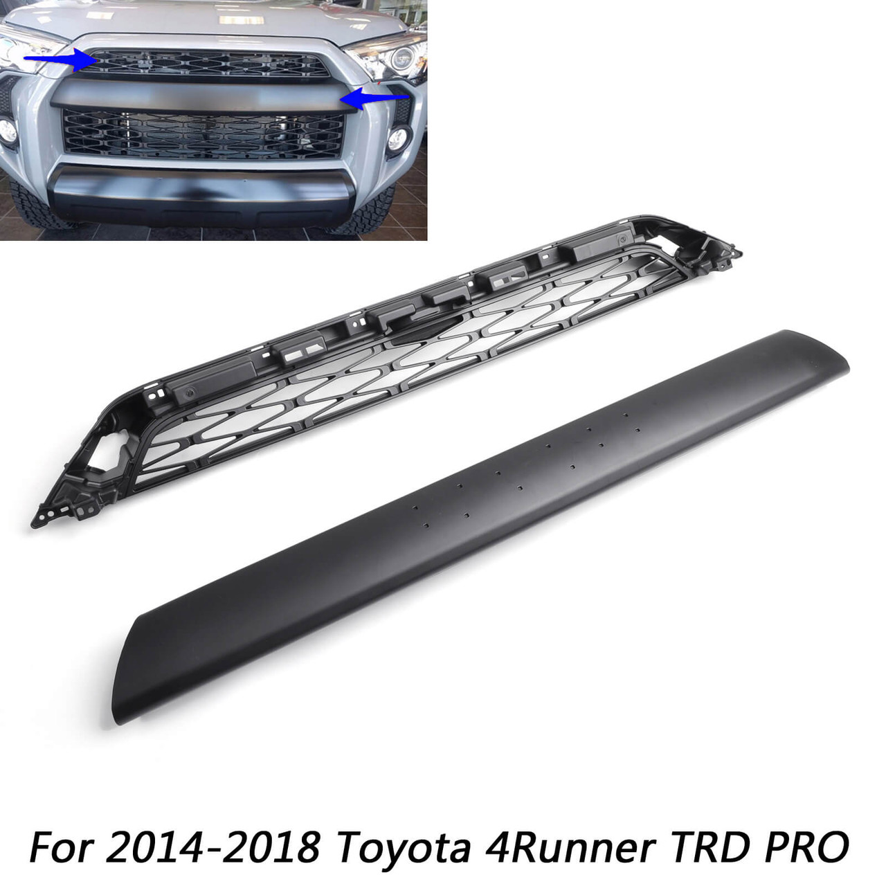 TRD Pro Style Grille for 4RUNNER SR5 TRD Premium Limited Nightshade (2014-2019) w/ Logo PZ327-35053