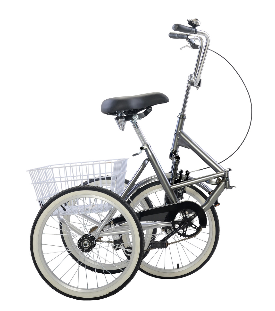 "Folding Tricycle Trike 20"" 3 Wheeler Bicycle Portable"