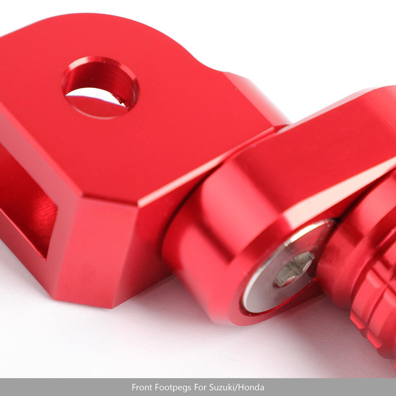 CNC Front Foot Pegs For CB125R CB250R CB300R 2018 CBR250RR 17-18 CB1100 13-14 CB1300 03-10 VFR1200X 12-13 Red