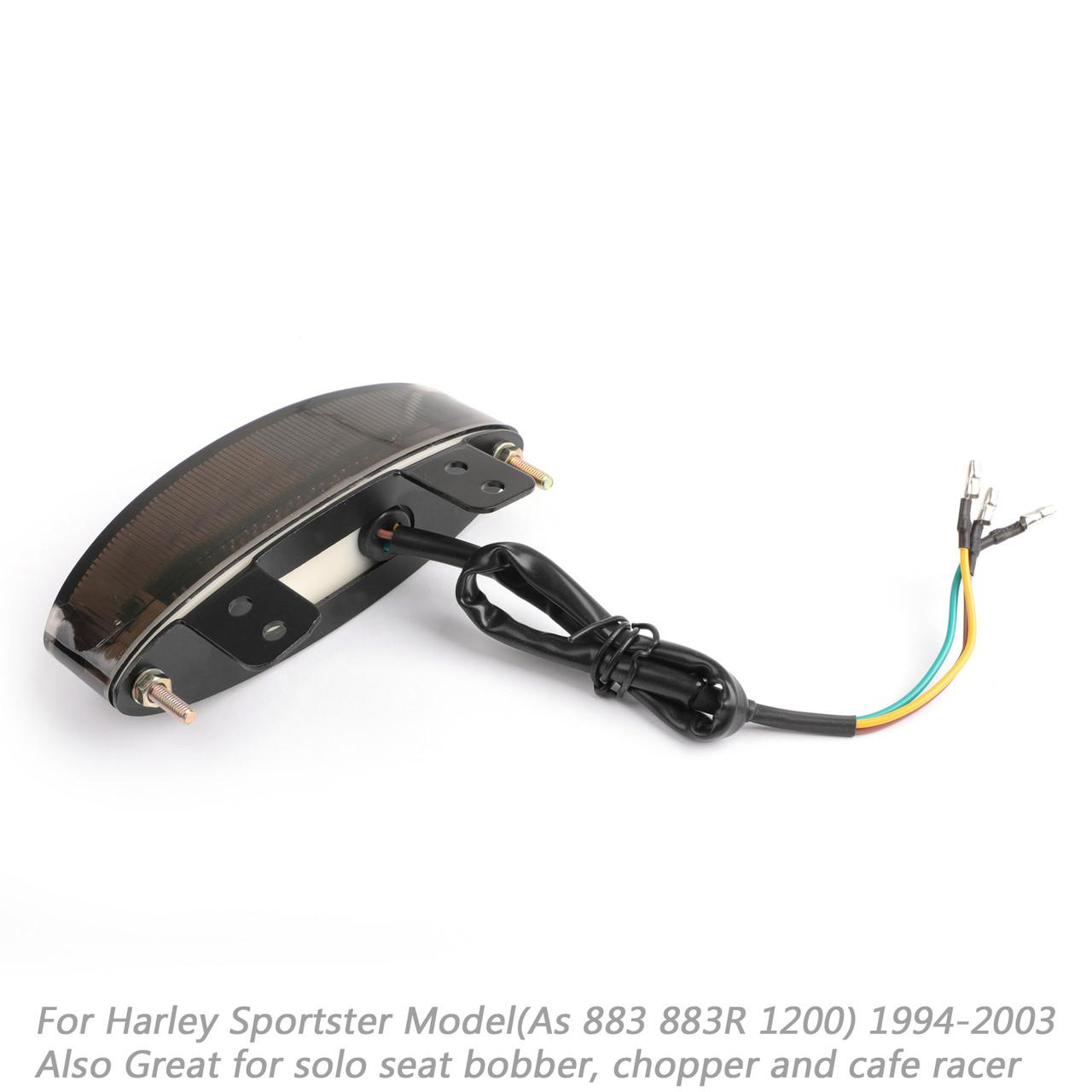 LED Rear Fender Edge Tail Light For Harley Sportster 883 1200 XL 1994-2003 Smoke