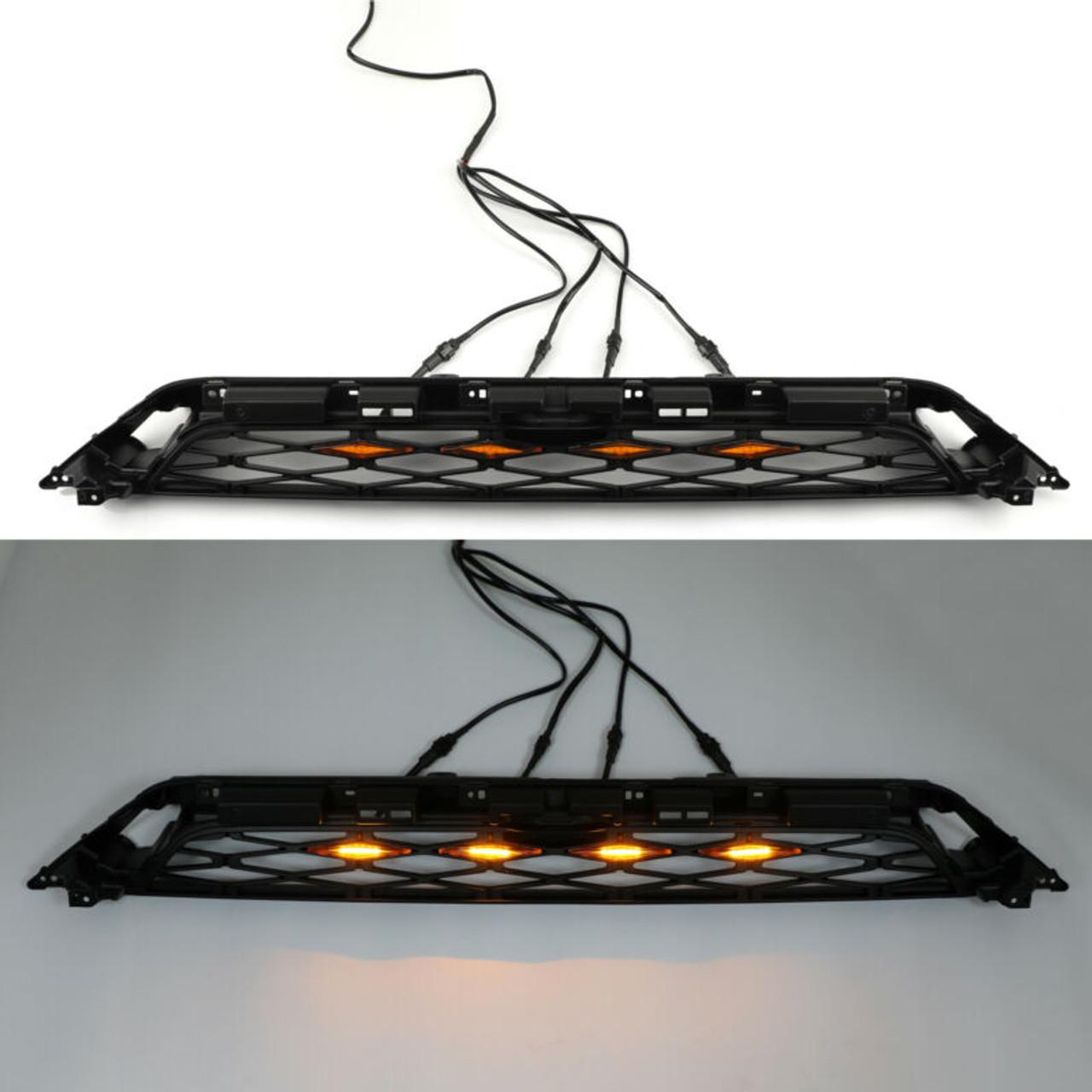 TRD PRO Grilles LED Lights For Toyota 4Runner 2014-2019 4pcs Kit