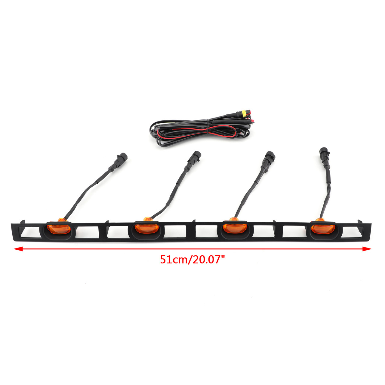 Front Grill Grille 4 LED Lights with Frame For Toyota Tacoma 2012-2015 PTR54-35150 Amber