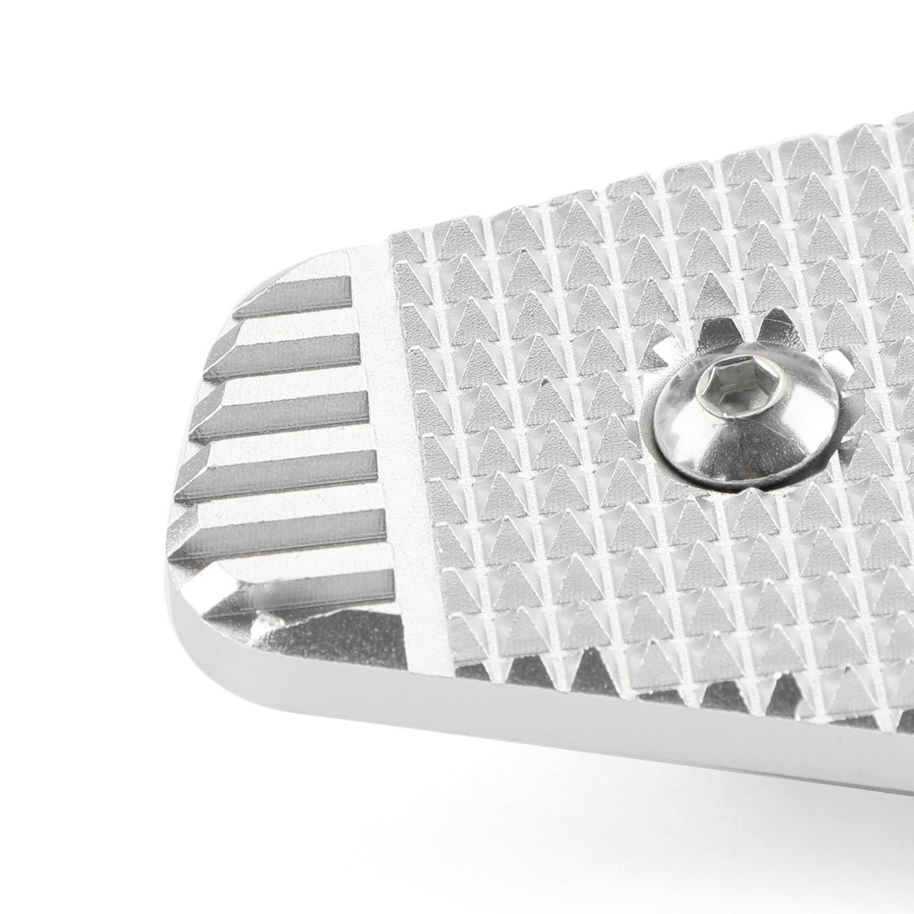 Rear Foot Brake Lever Pedal Extension Enlarge Pad Extender Fit For BMW R nineT Scrambler Urban 2017-2020 Silver