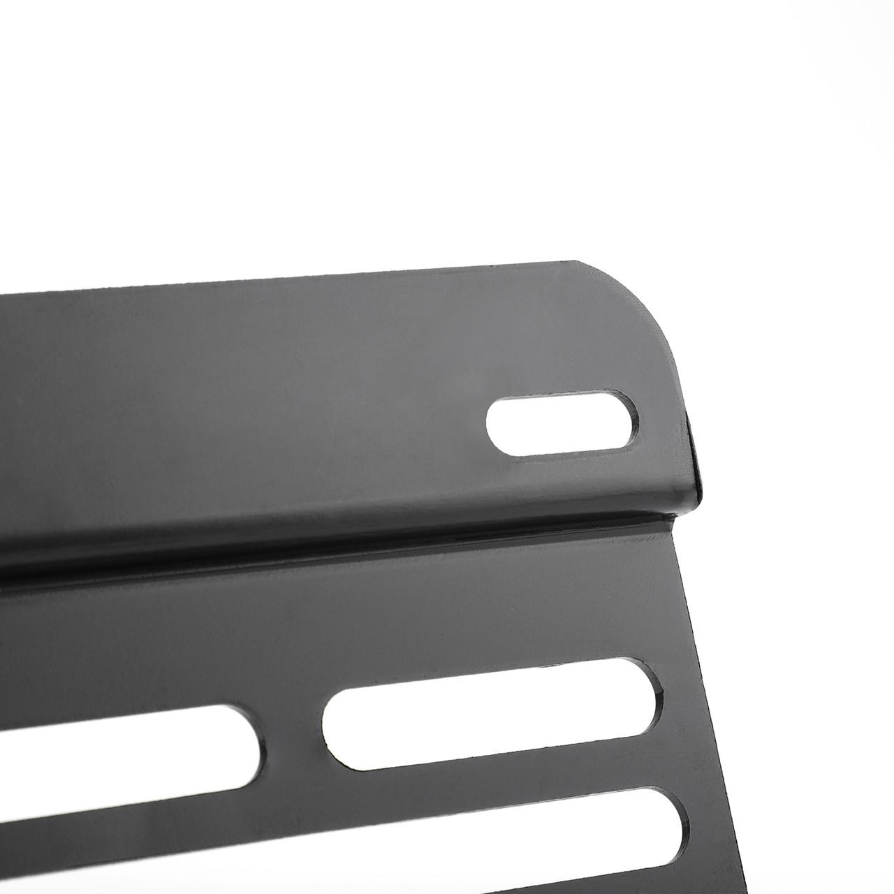 Front Bumper Tow Hook License Plate Mounting Holder Bracket For Volkswagen MK6 Jetta Sportwagon 10-14 Black