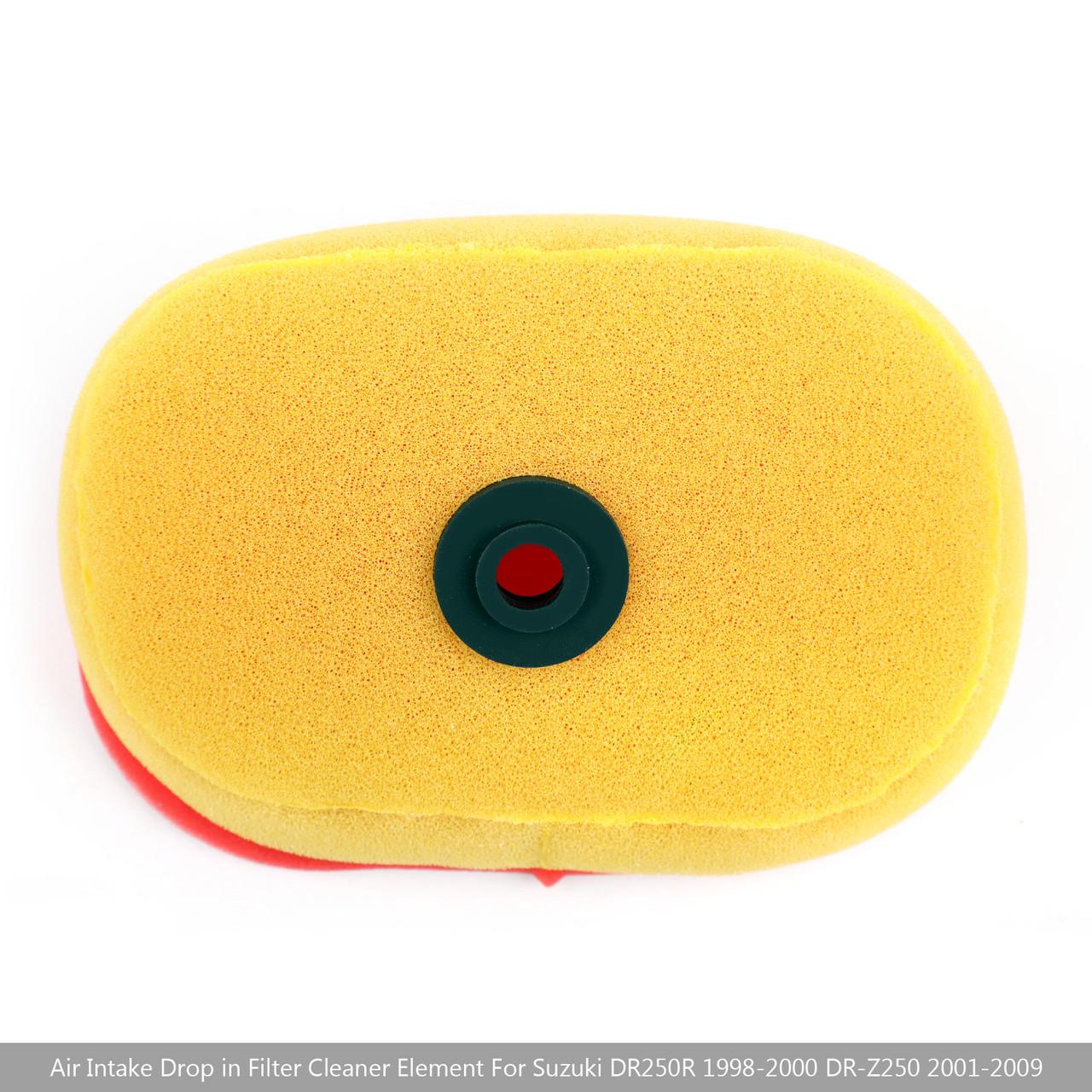 Air Intake Filter Cleaner For Suzuki DR250R 98-00 Suzuki DR-Z250 01-09 Yellow