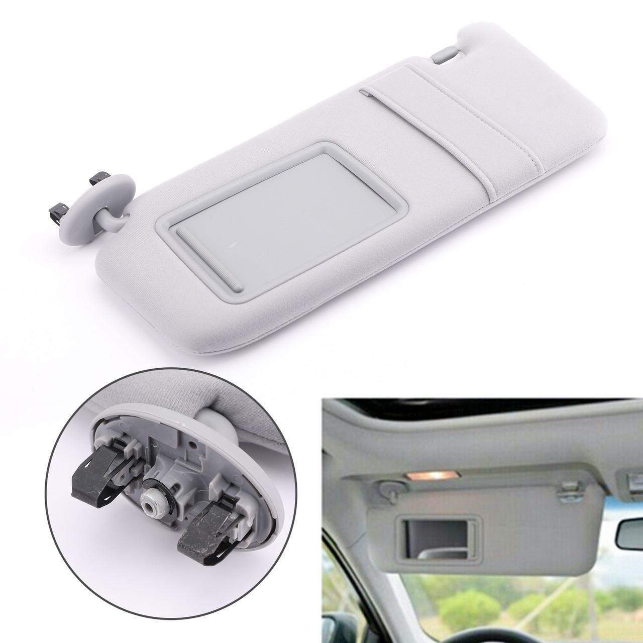 Sun Visor LEFT Driver For Toyota Camry 09-11 Camry Hybrid 07-11 Gray