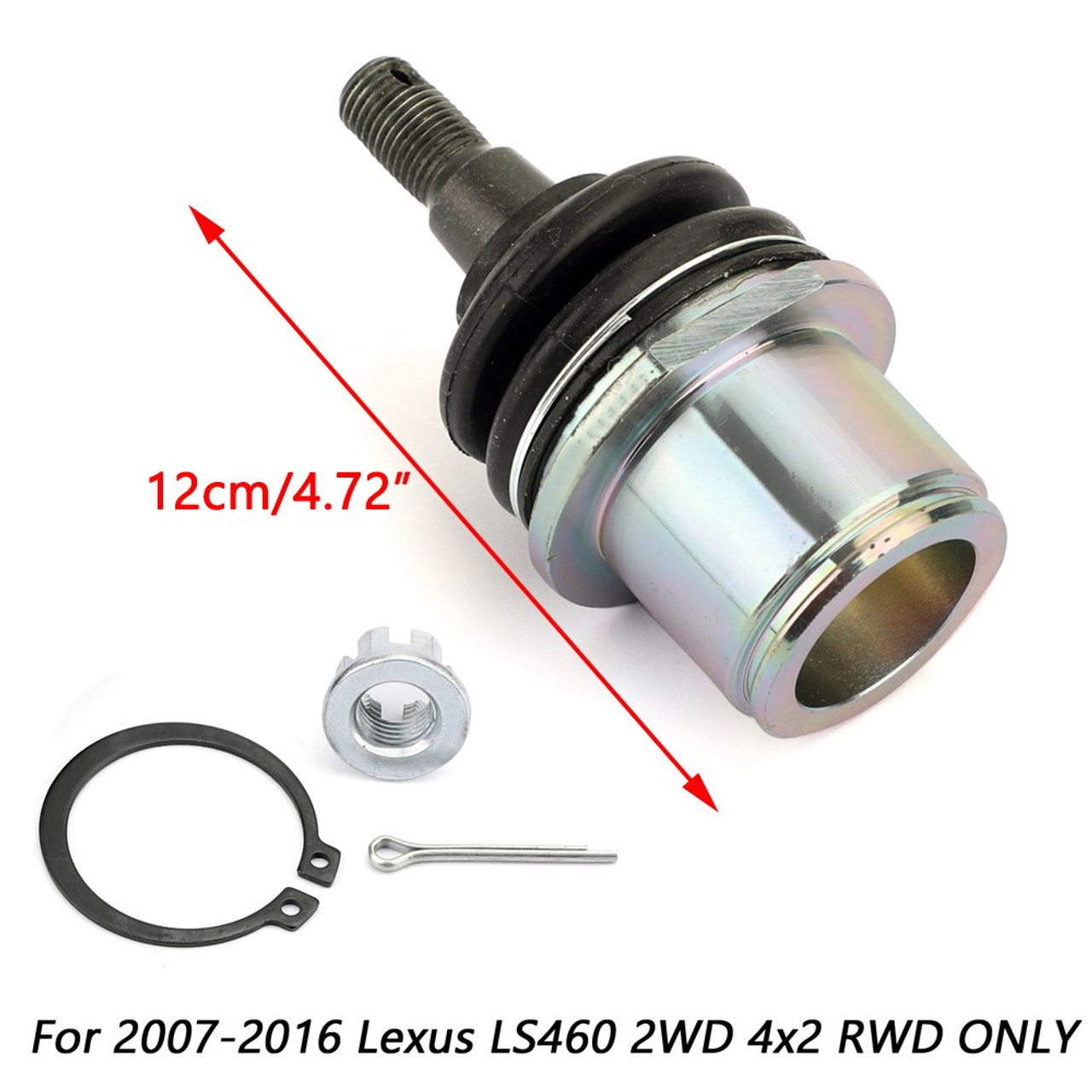 Front Lower Knuckle Spindle Ball Joint For Lexus LS460 2WD 4x2 RWD 16-17 Black