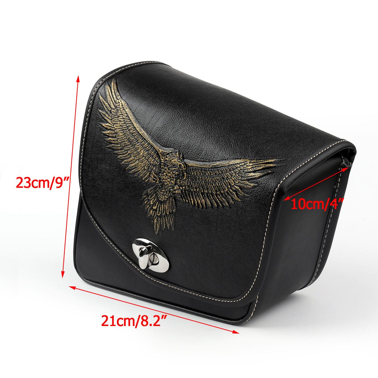 Leather Right side Saddlebag Saddle Bag For Sportster XL 883 XL 1200