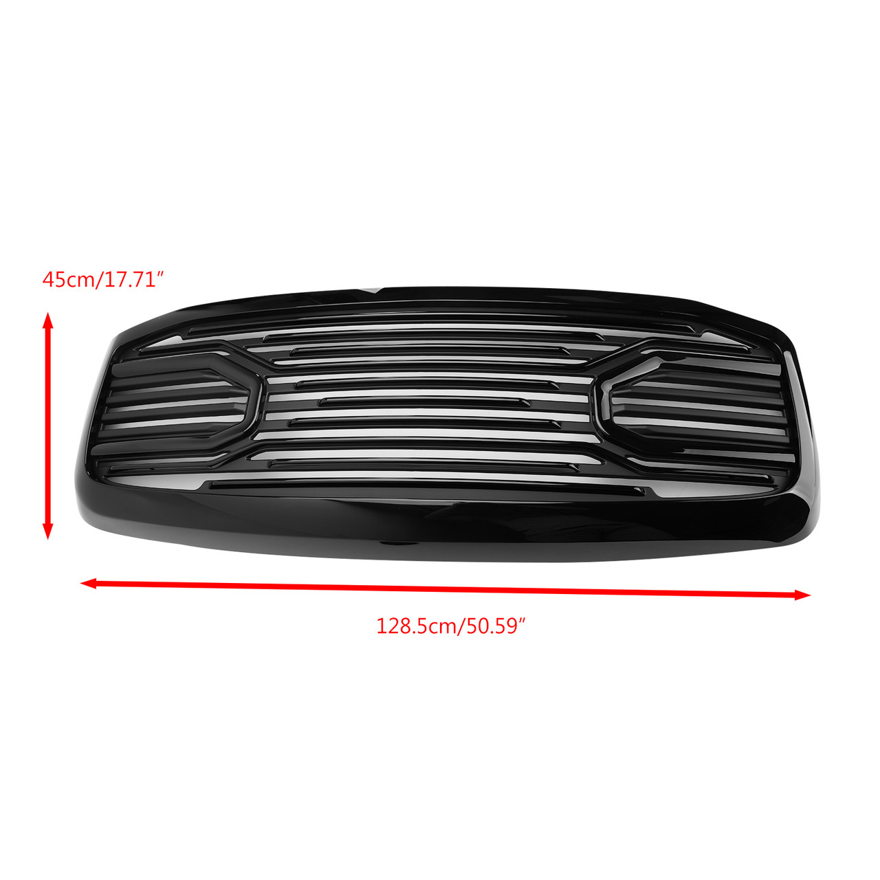 Front Black Big Horn Grille+Replacement Shell For 2006-2009 RAM 2500+3500