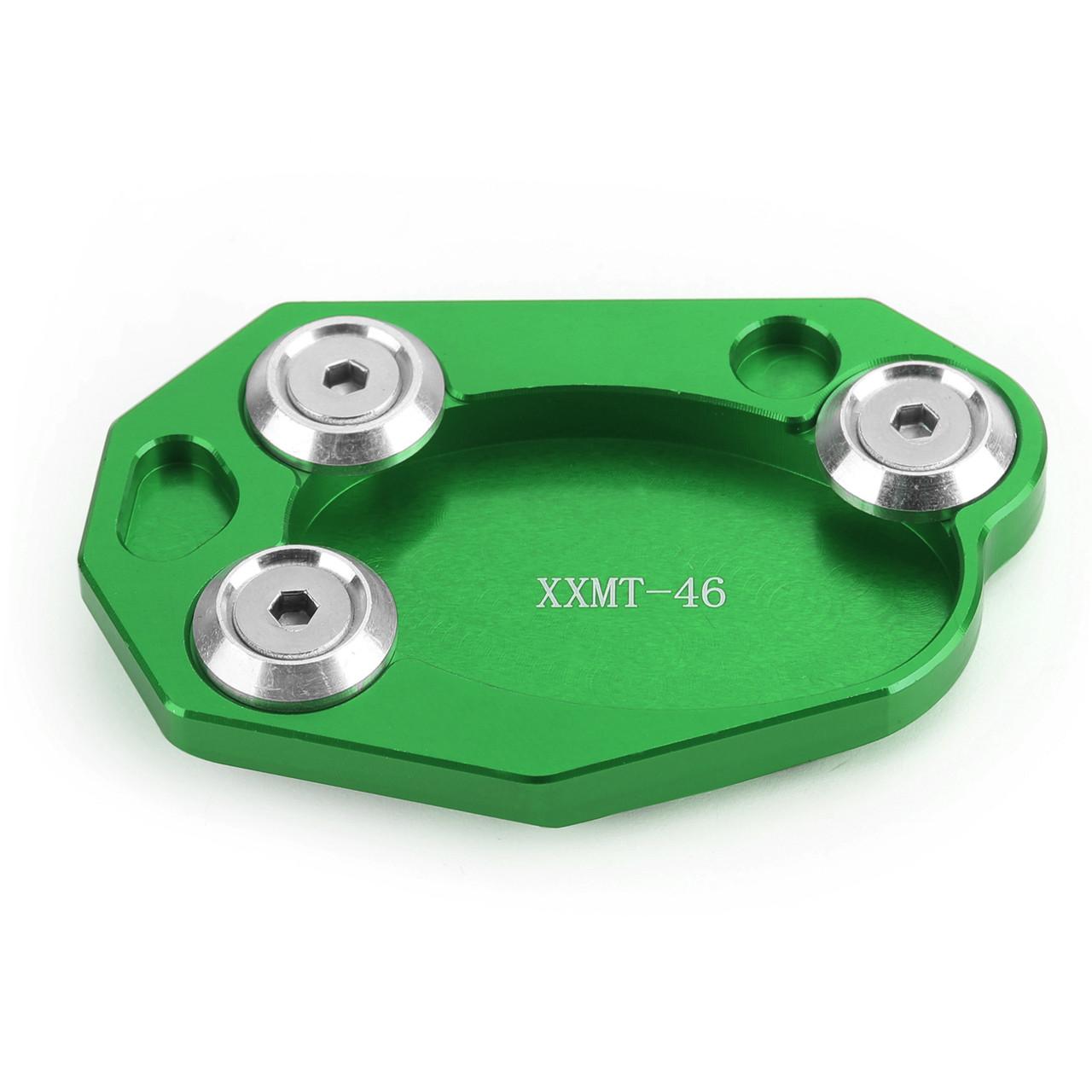 Kickstand Sidestand Extension Foot Plate Pad For Kawasaki Z1000 10-18 ER6N/ER6F 06-15 ZX10R 08-15 ZX6R 09-15 Green
