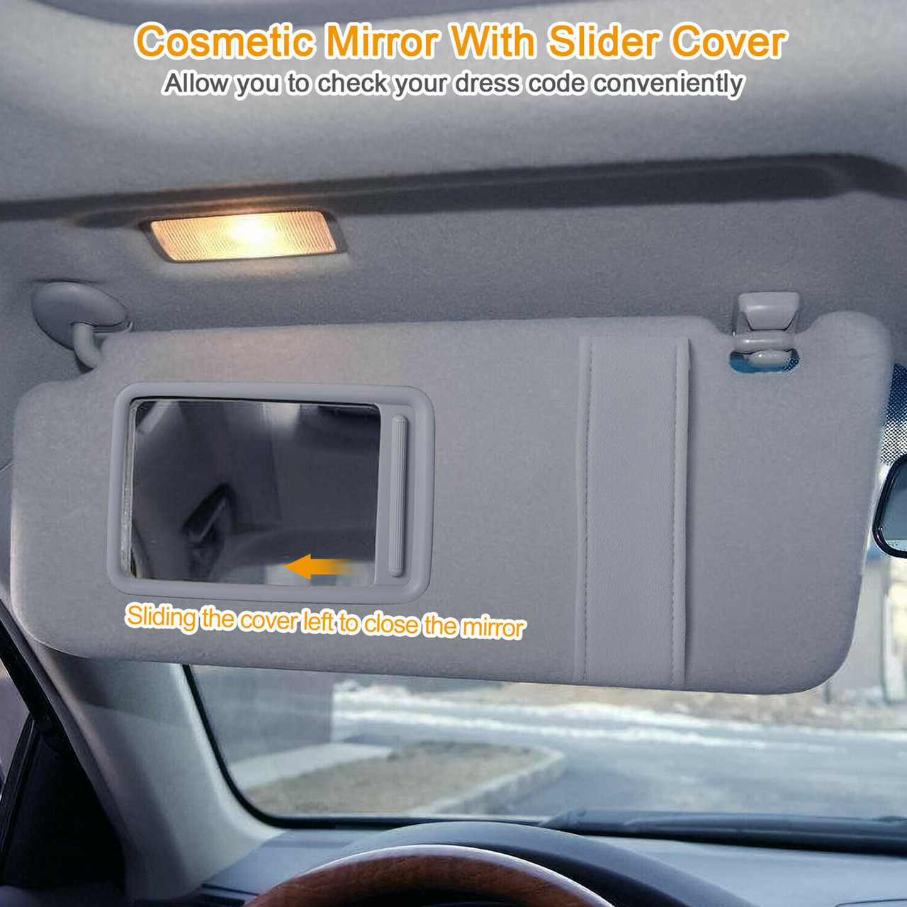 DRIVER LEFT SUN VISOR For TOYOTA VENZA With SUNROOF 74320-0T022-B1 09-16 Gray