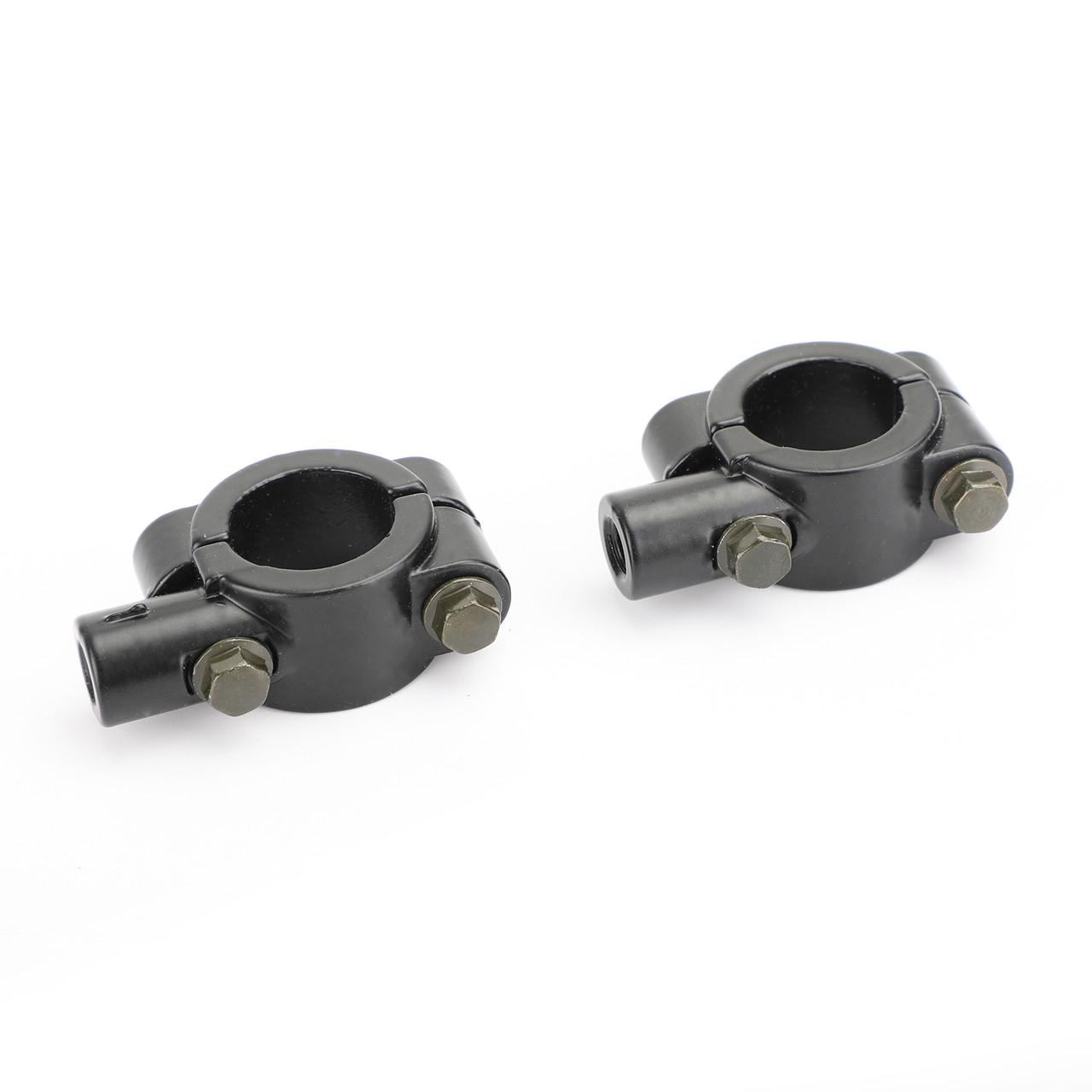 "10mm M10 Motorbike 7/8"" Bar Mirror Mount Holder Clamp Adaptor Universal CCW"