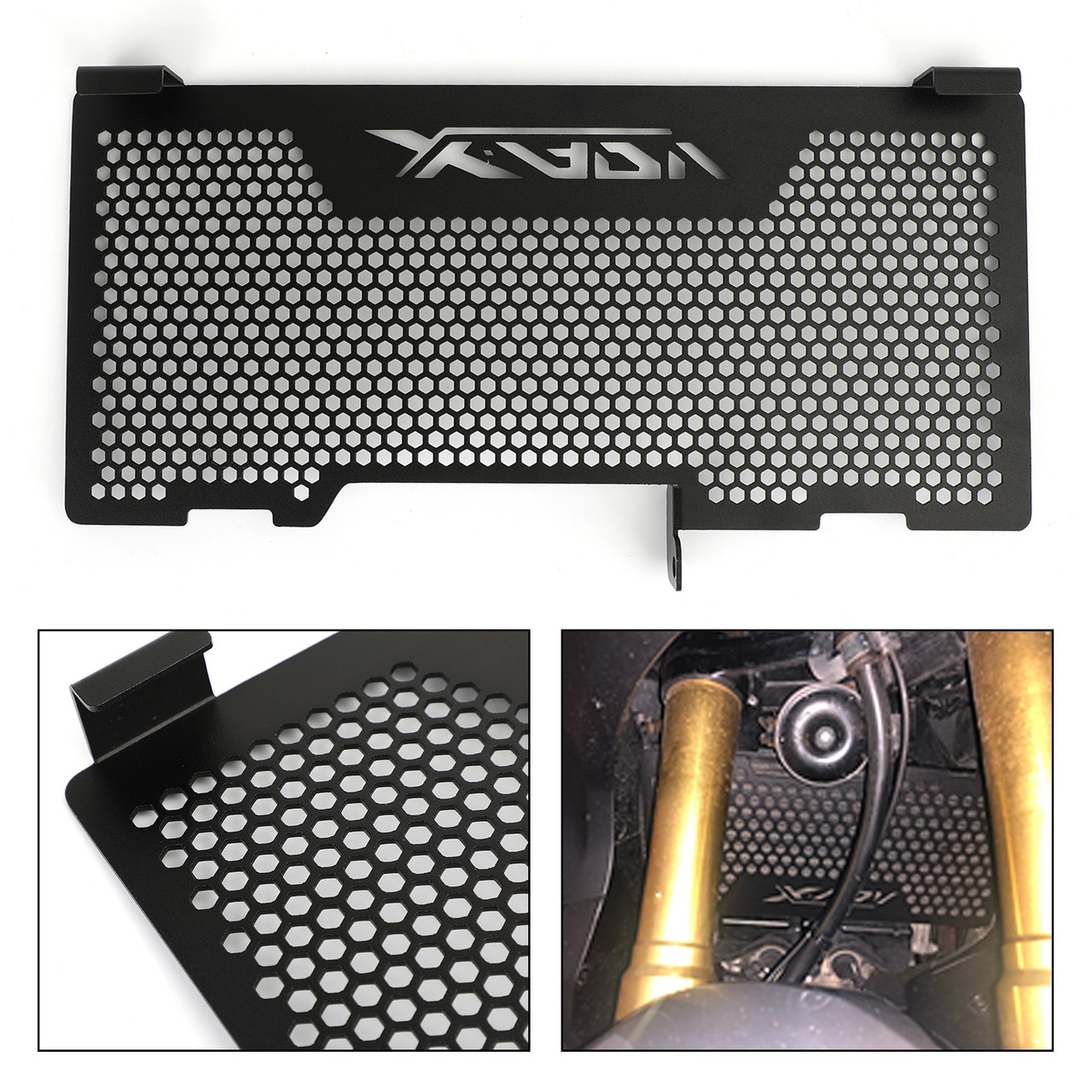 Stainless Steel Radiator Guard Protector Grill Cover For Honda X-ADV 750 17-18 Black