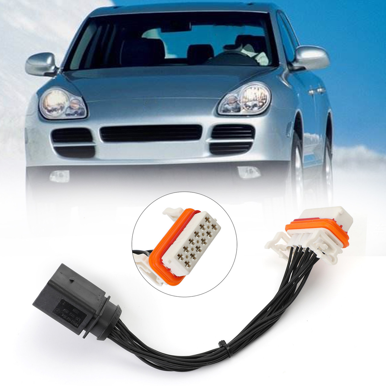 Headlight Wiring Harness Lamp Xenon Front Connector For Porsche Cayenne  03-06 Black - Mad Hornets | Porsche Cayenne Headlight Wiring Harness |  | Mad Hornets