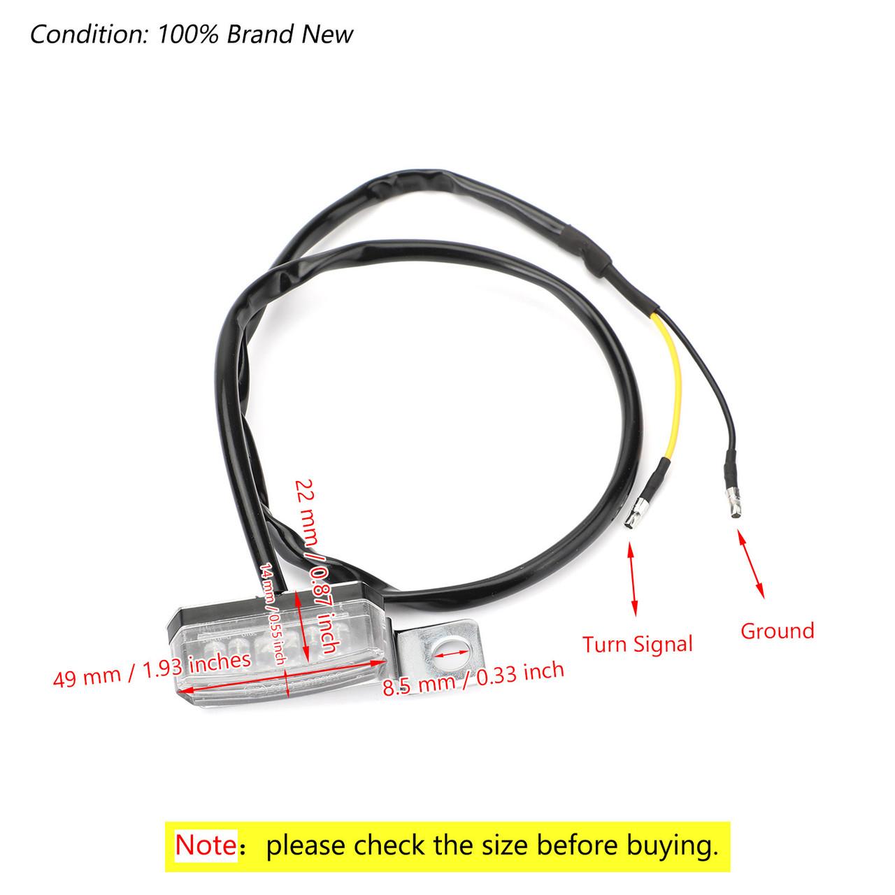 2x Universal LED Turn Signal Indicator Blinker Light Lamp Chrome