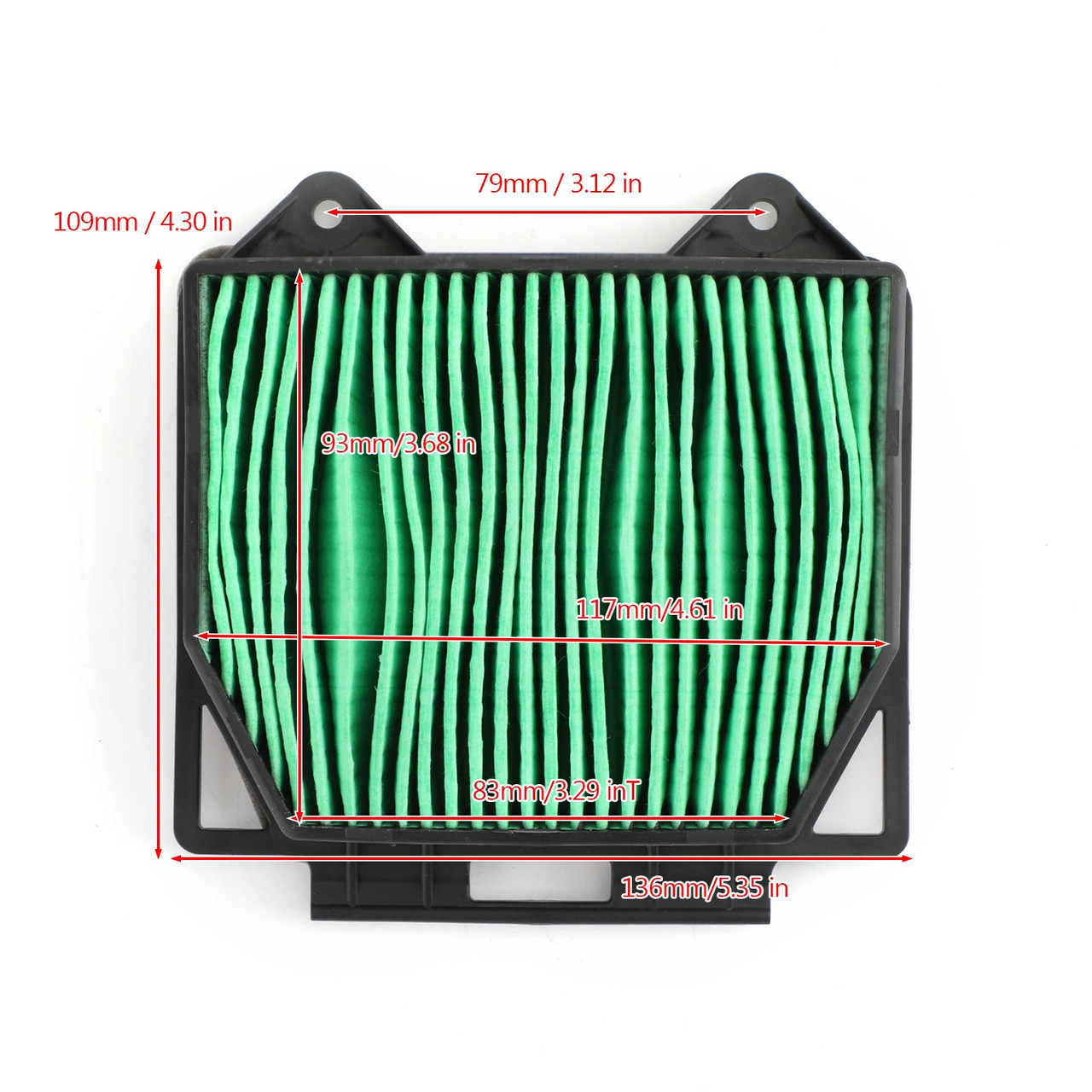 Air Filter Cleaner Element Replacement Fit For Honda CB250R CB300R CBF250 CB150R CB125R 2018-2020 Green