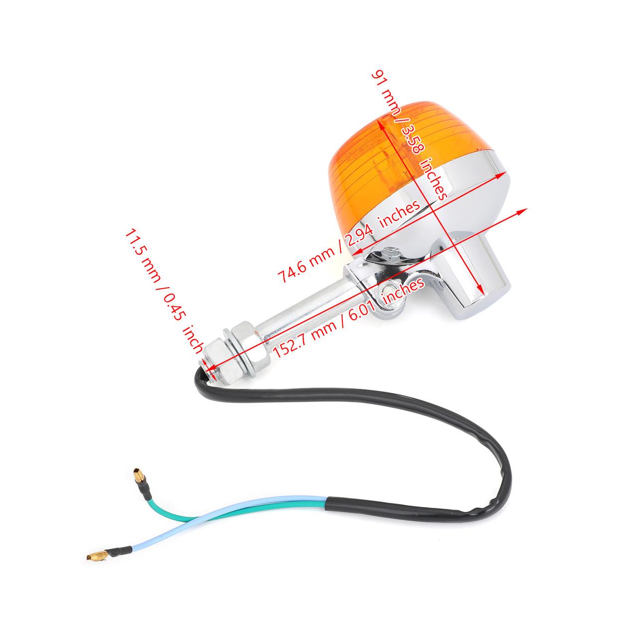 2x Turn Signal Light 12V For Honda CT70 CT90 XL100 CB350 CM400 CB450 CB750