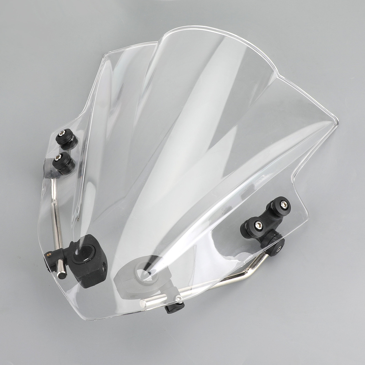 "Universal 7/8"" 22mm Handlebar ABS Plastic Motorcycle Windshield WindScreen Clear"