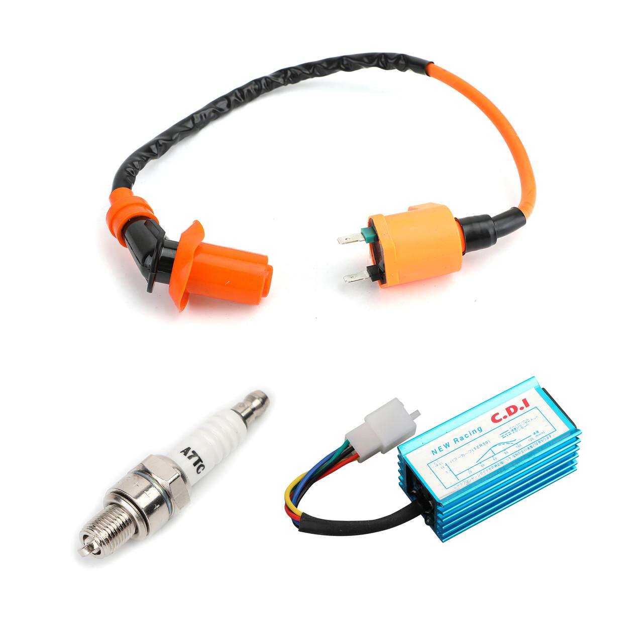 High Performance Racing Ignition Coil Spark Plug AC CDI for GY6 50cc 125cc 150cc