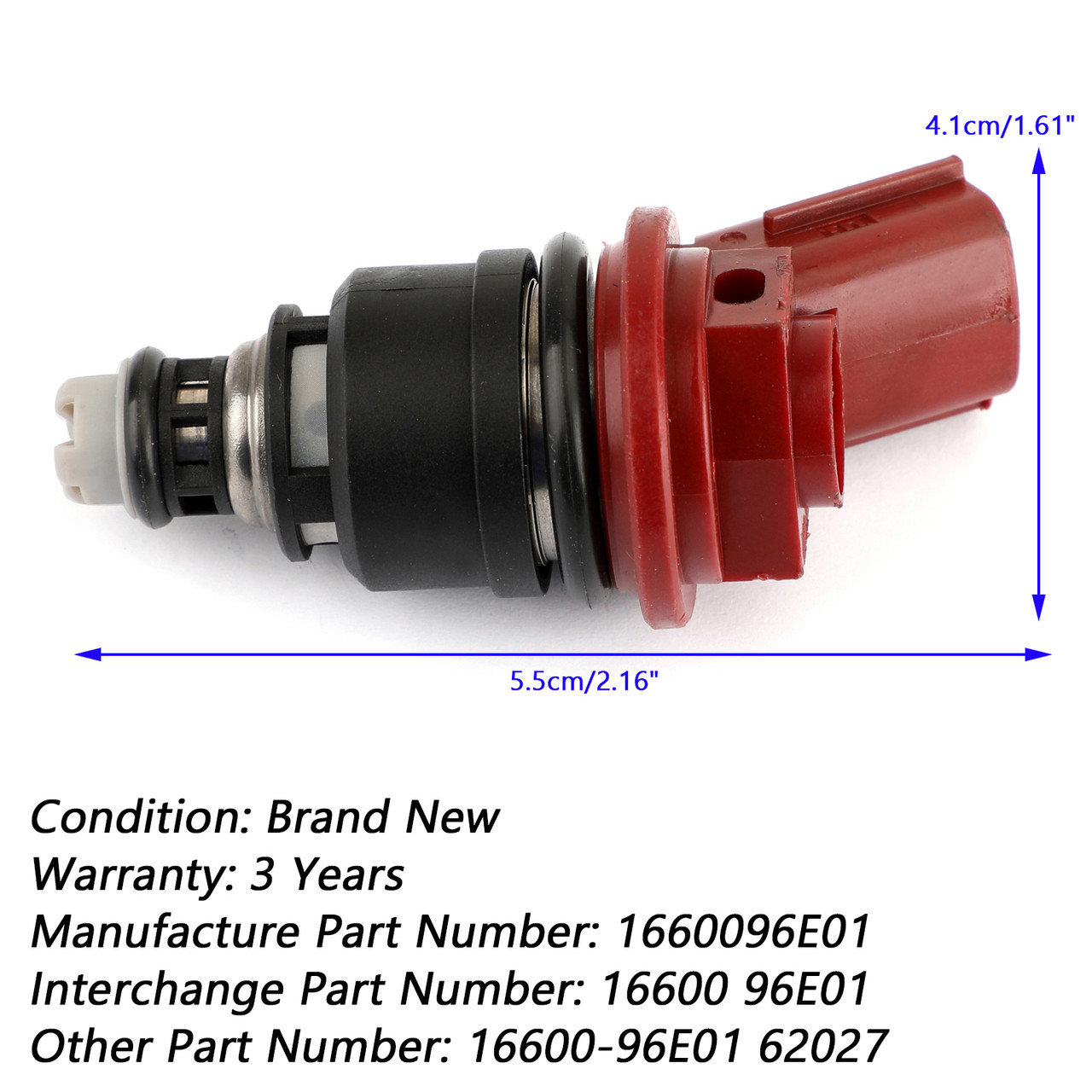 Fuel Injector Fit For Infiniti I30 96-99 Nissan Maxima 92-99 1660096E01 Brown