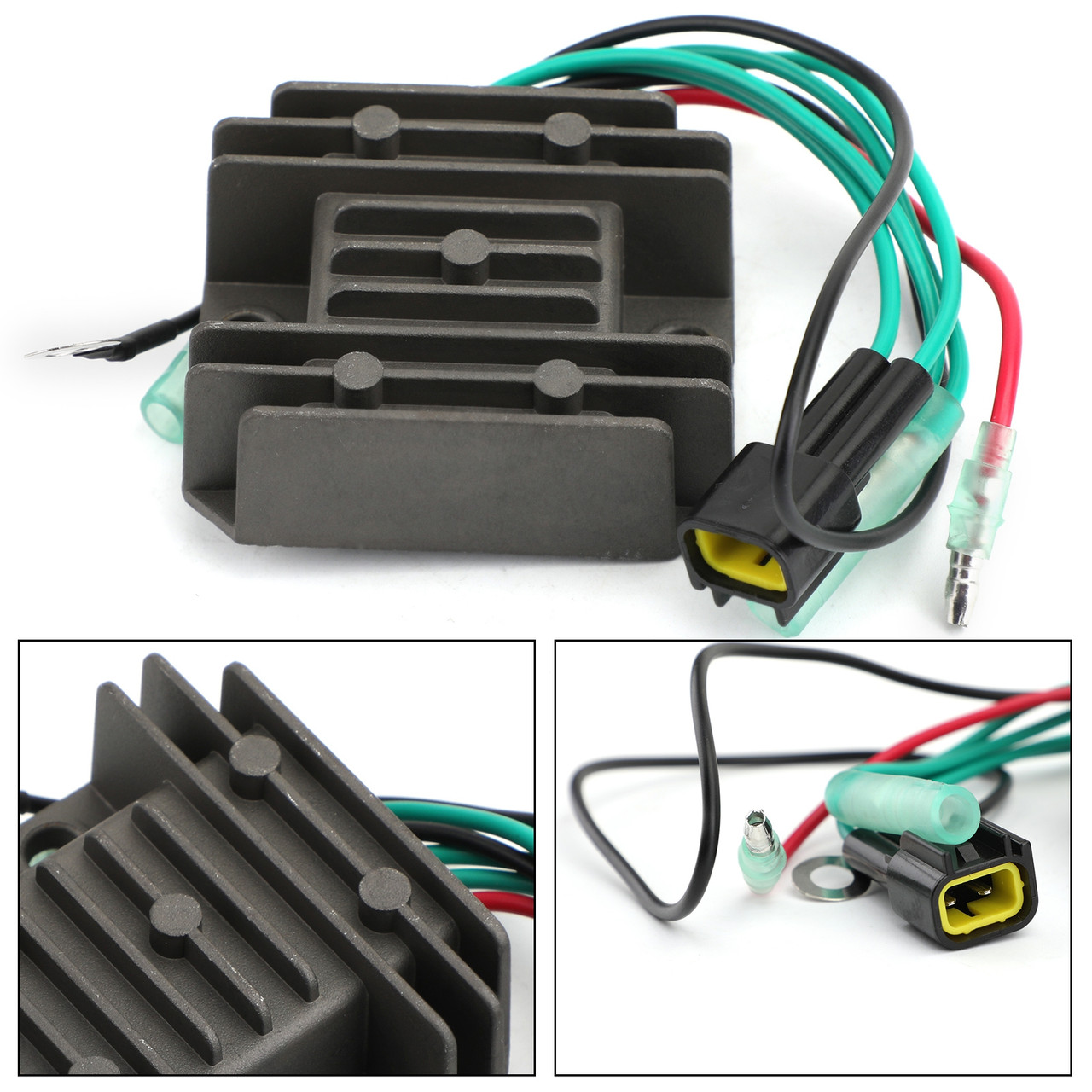 Voltage Regulator Rectifier for Yamaha 75C 00-16 80A 00-05 90 00-10 90A 00-17 C90 00-01 outboard 6H0-81960-10