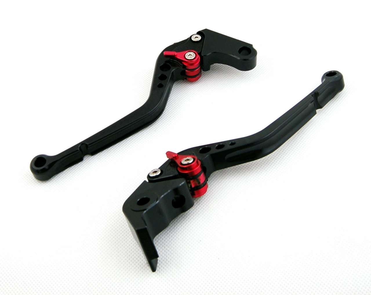 Long Brake Clutch Levers For Suzuki GSXR1000 09-14 GSXR600 GSXR750 11-14 Black
