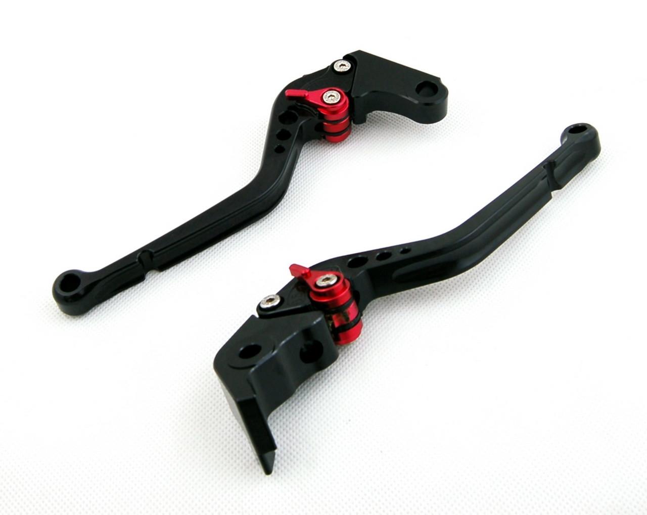 Long Brake Clutch Levers For Suzuki GSXR1000 09-14 GSXR600 GSXR750 11-14 Black