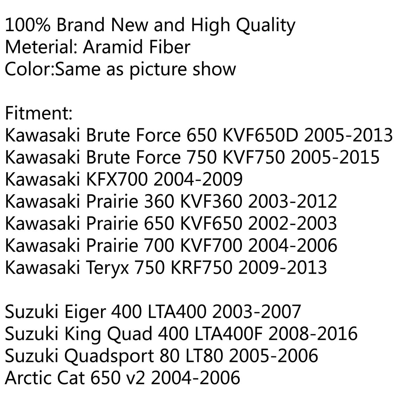 Clutch Drive Belt 59011-0019 For Suzuki Eiger 400 King Quad 400 Quadsport 80 03-16 Black