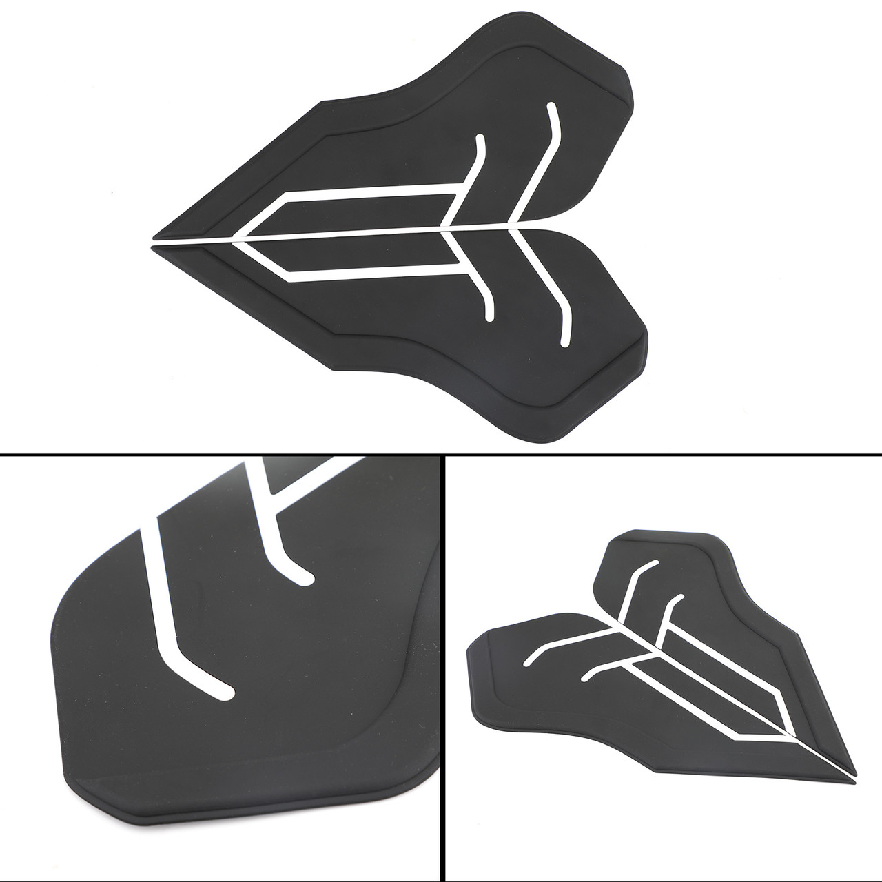 Tank Traction Pad Side Gas Knee Grip Protector Fit For Yamaha Tenere 700/XTZ700/XT700Z/T7/T700 18-20 Black