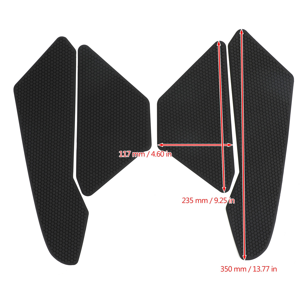 Tank Traction Pad Side Gas Knee Grip Protector Fit For Honda CBR1000RR Fireblade/SP/SP2 17-19 Black