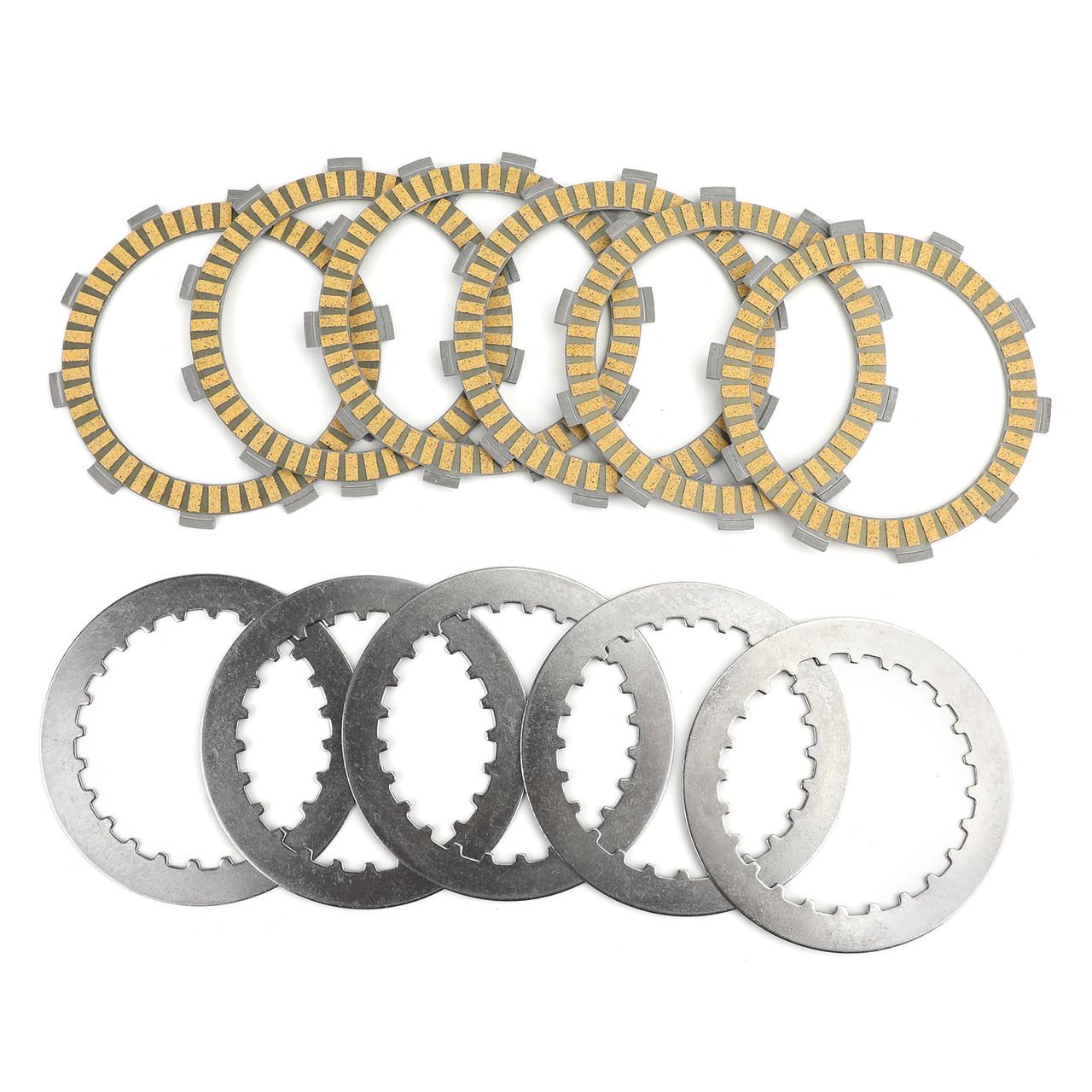 Clutch Plate Kit Fit For Honda CR125 RD/RE 83-84 NX250 2L/M/P/2P 90-93 XR250R 86-04 XR250 Y/3 (MD30) 00-03 CBF250 04-06