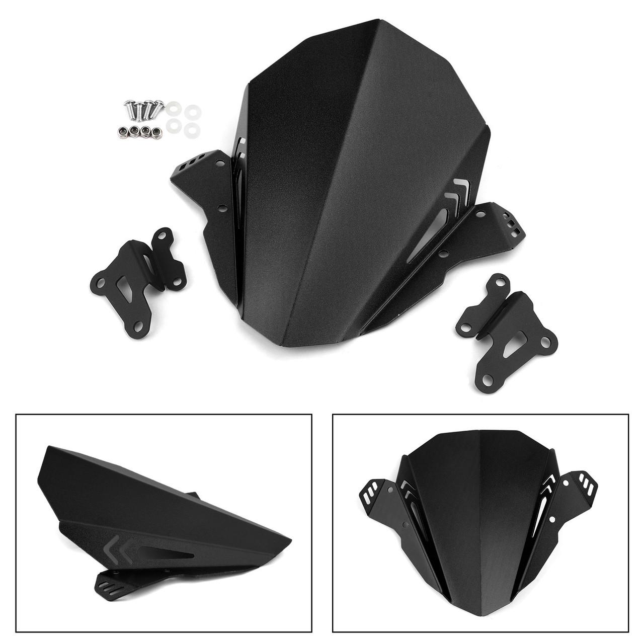 Aluminum Windshield Fit For YAMAHA MT-09 FZ-09 19-20 Black