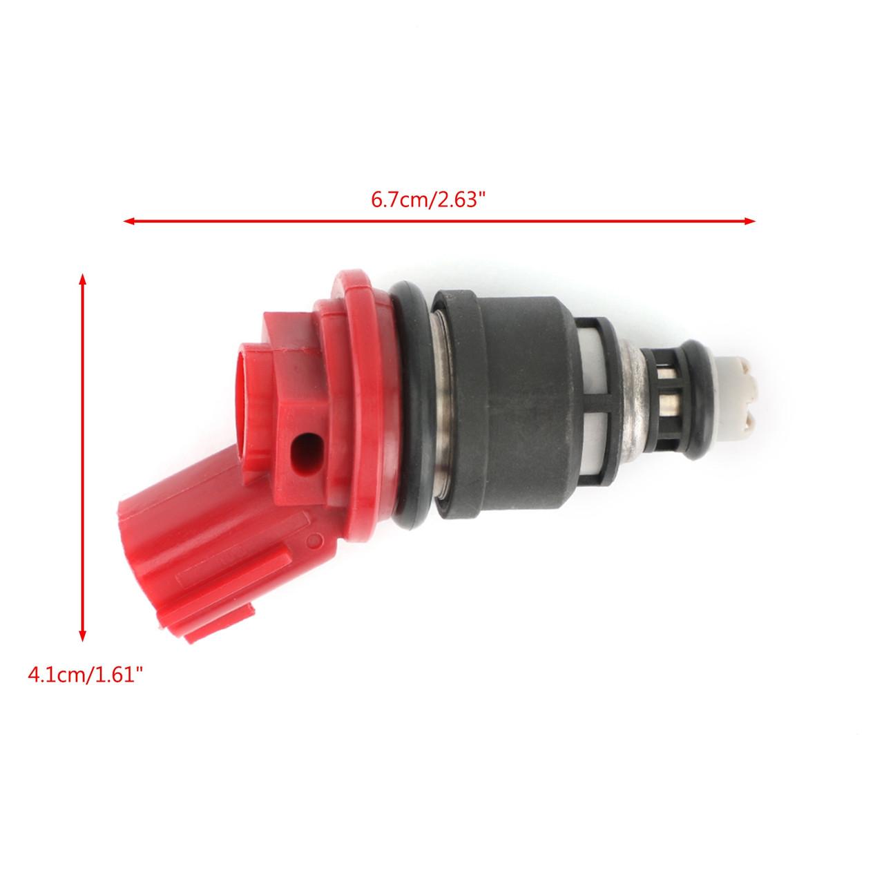 6PCS Fuel Injectors 16600-96E01 Fit for Nissan Altima Maxima Sentra Infiniti Q45 J30 G20 Red