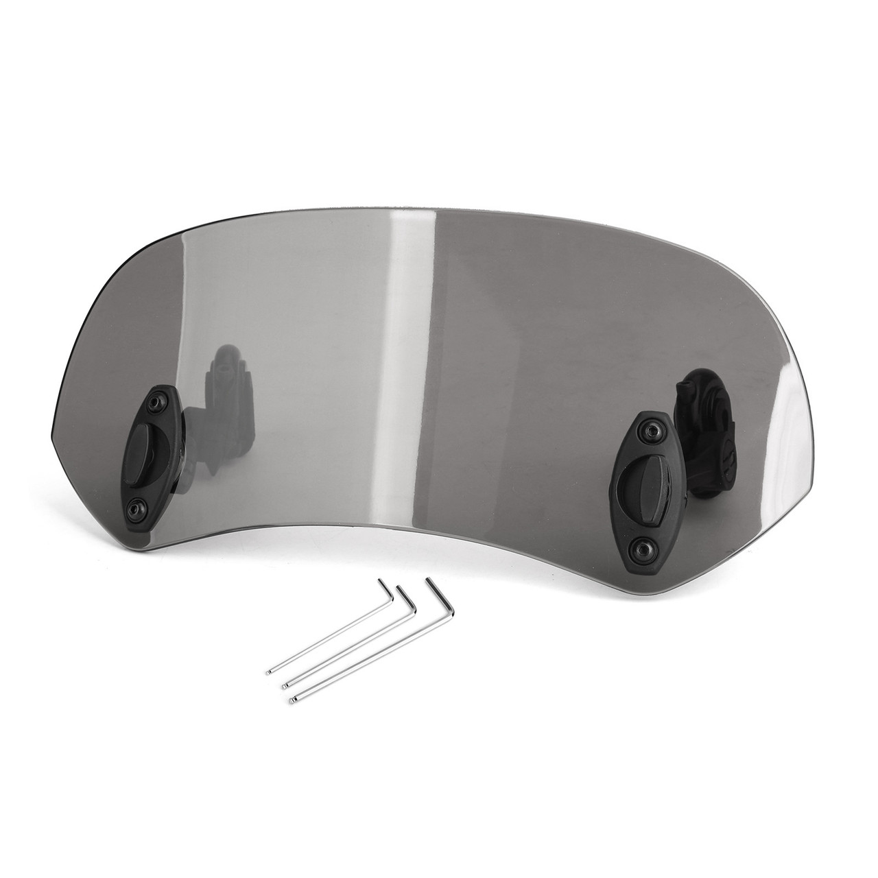ABS Plastic Windshield Windscreen Universal Fit For Most of Motorcycle Gray