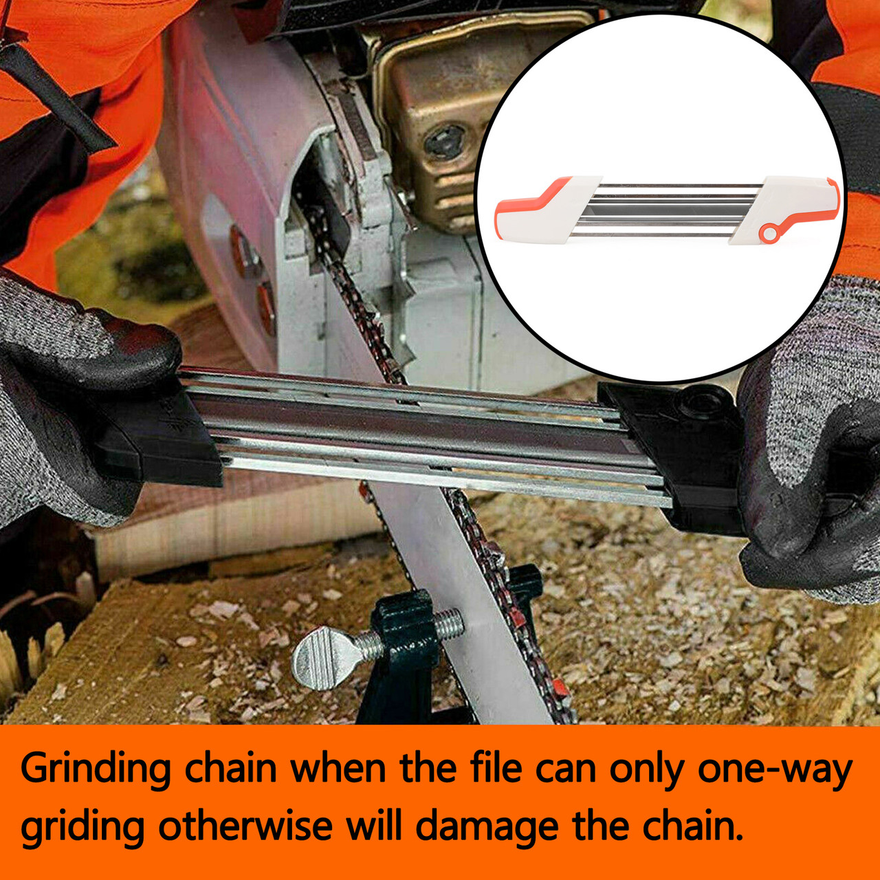 "Chainsaw Teeth Quick Sharpener File For STIHL .325"" 4.8mm Chain"