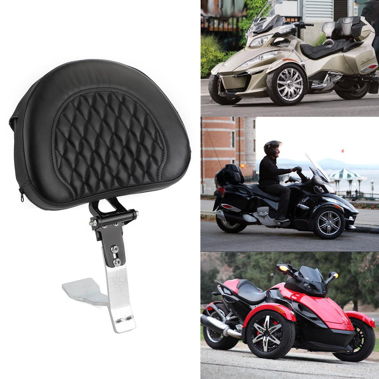 Adjustable Driver Backrest fit for Can Am Spyder RT SE6 SM6 SE5 08-17 Black