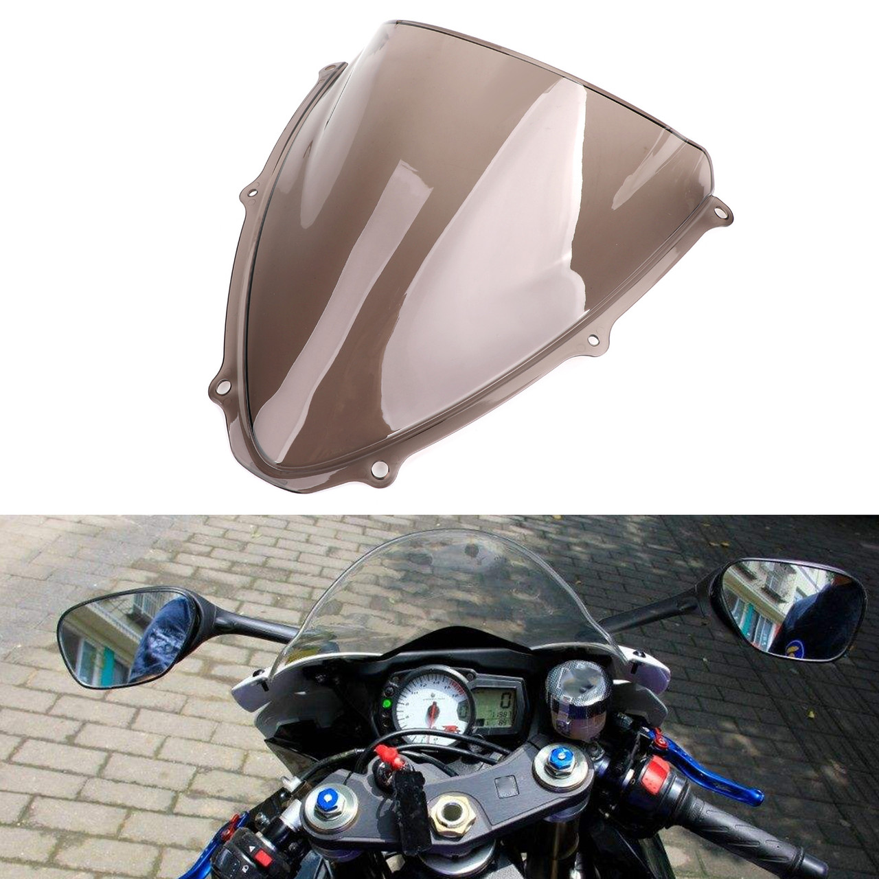 Windshield Fit for Suzuki GSXR 600 750 K6 06-07 Smoke