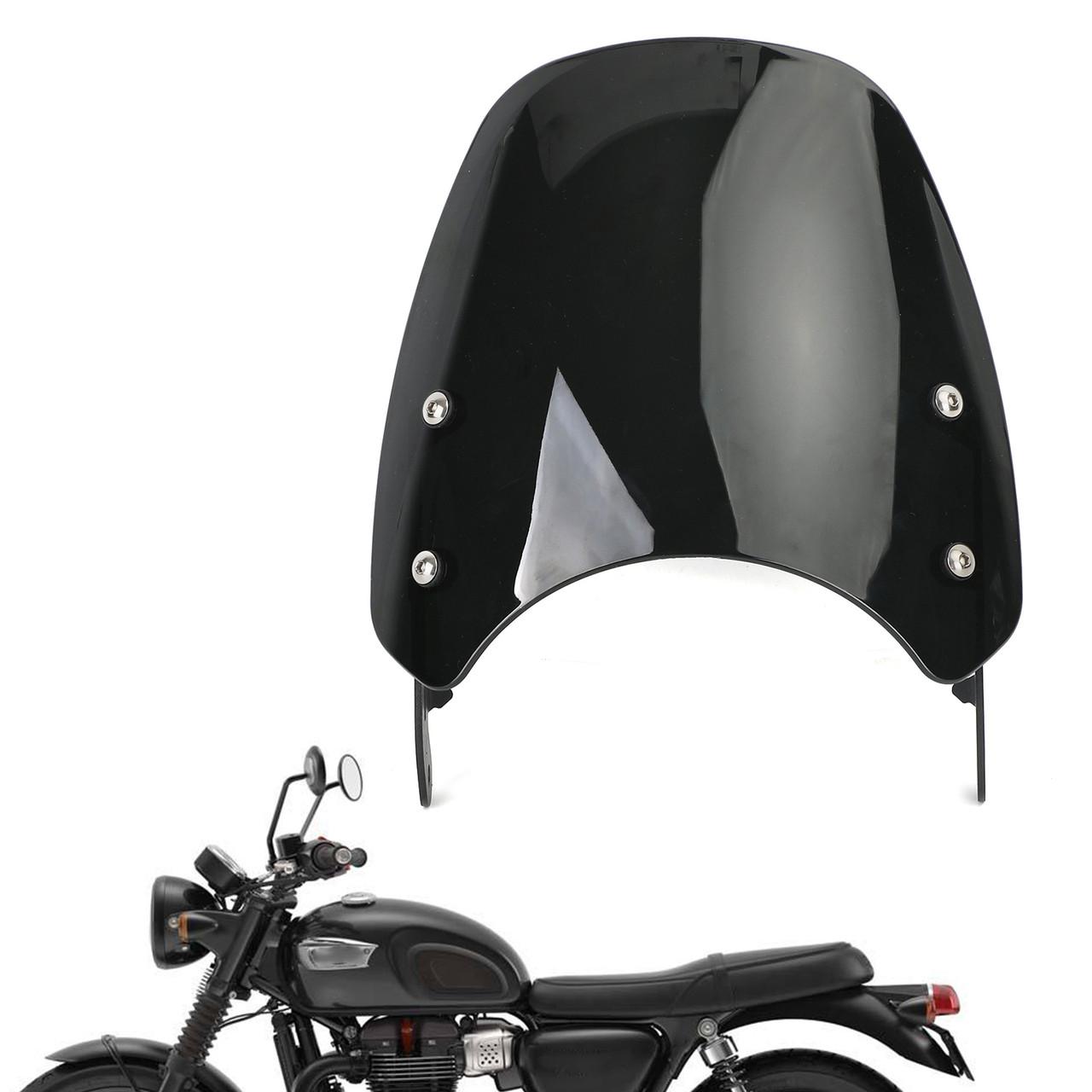 Windshield Fit for Triumph Bonneville 01-17 T100 03-17 Black