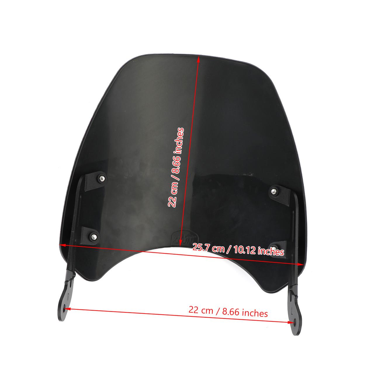 Windshield Fit for Triumph Bonneville 01-17 T100 03-17 Carbon