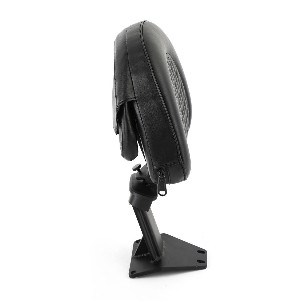 Adjustable Driver Backrest Back Rest fit for Honda Goldwing GL1800 2018-2020 Black
