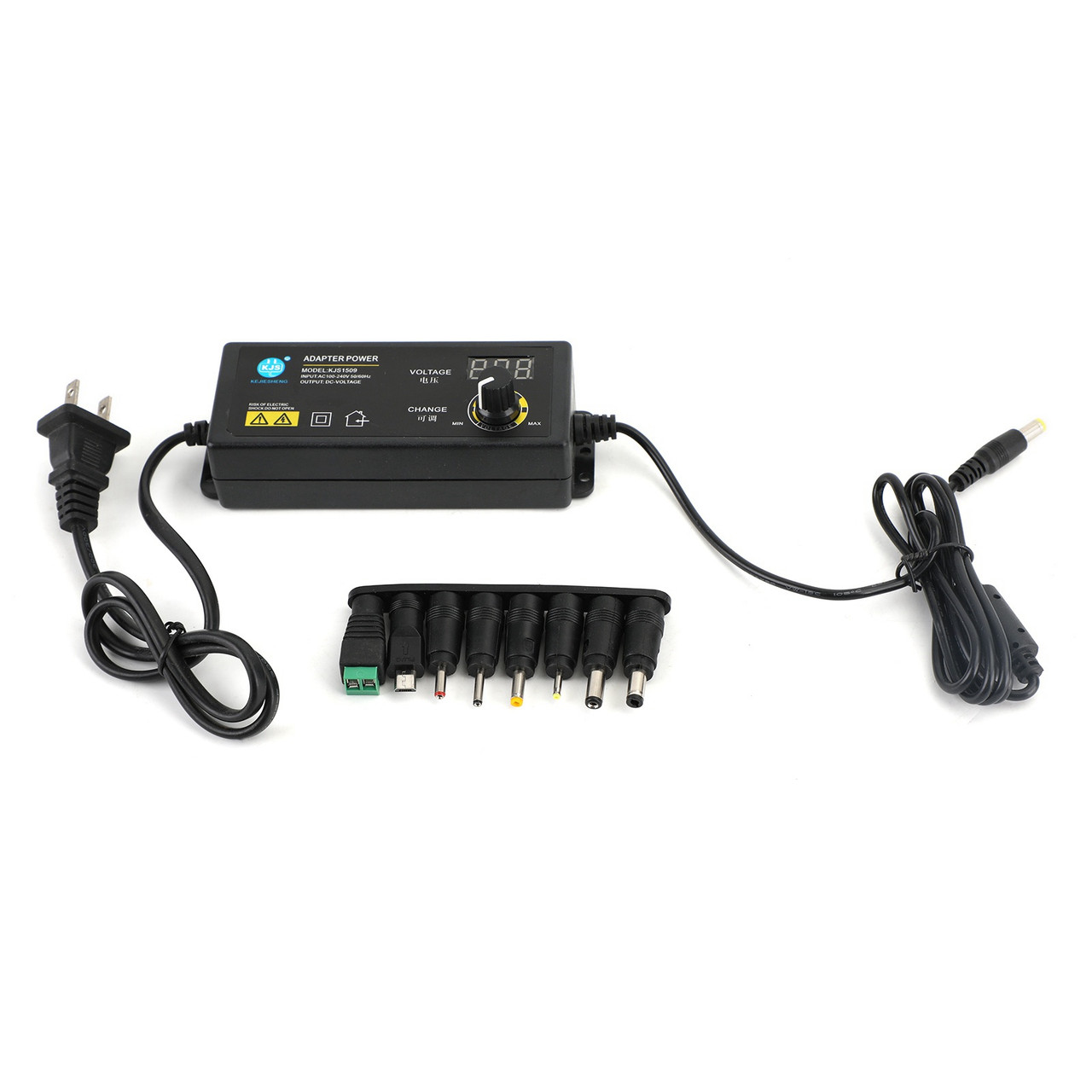 AC/DC 3V-24V Electrical Power Supply Adapter Charger Voltage Adjustable 1.5A