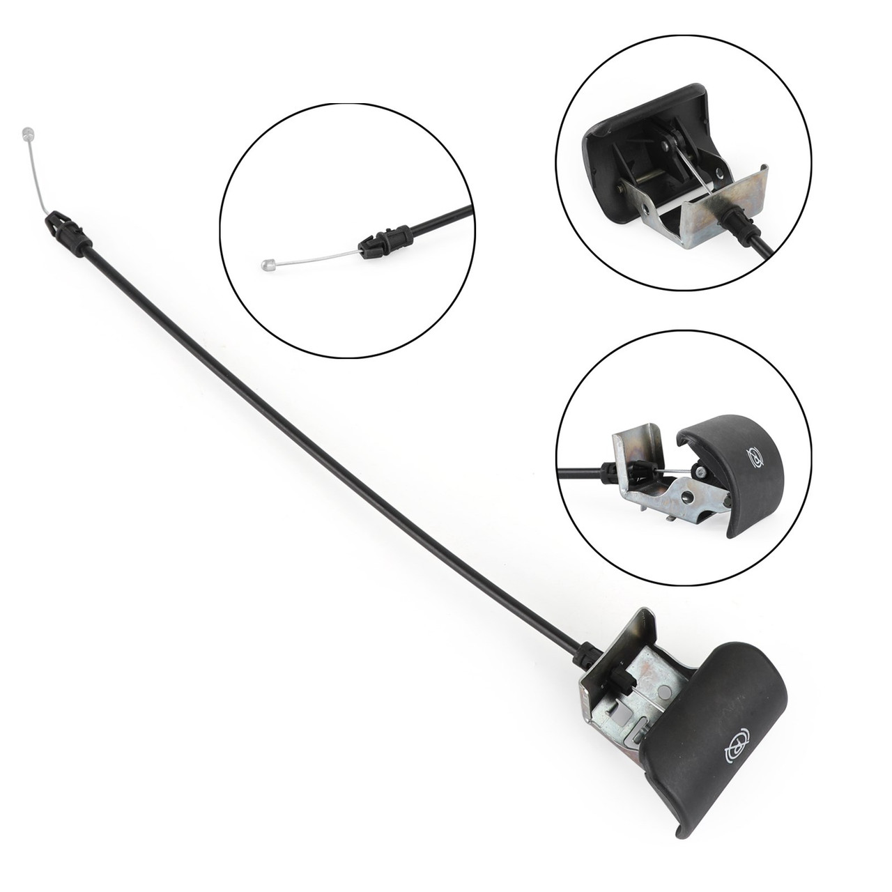 Emergency Parking Brake Release Pull Handle Cable Fits for 2003-2006 Chevrolet Avalanche 1500 03-06 Suburban 2500 01-06 Tahoe 00-06 99-07 Yukon 00-06 Black