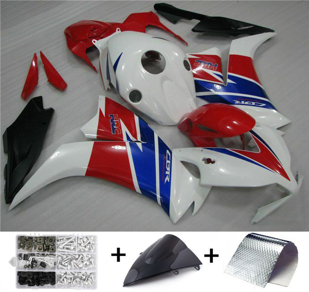 ABS Injection Mold Bodywork Fairing Kit For Honda CBR1000RR 2012-2016 White Red