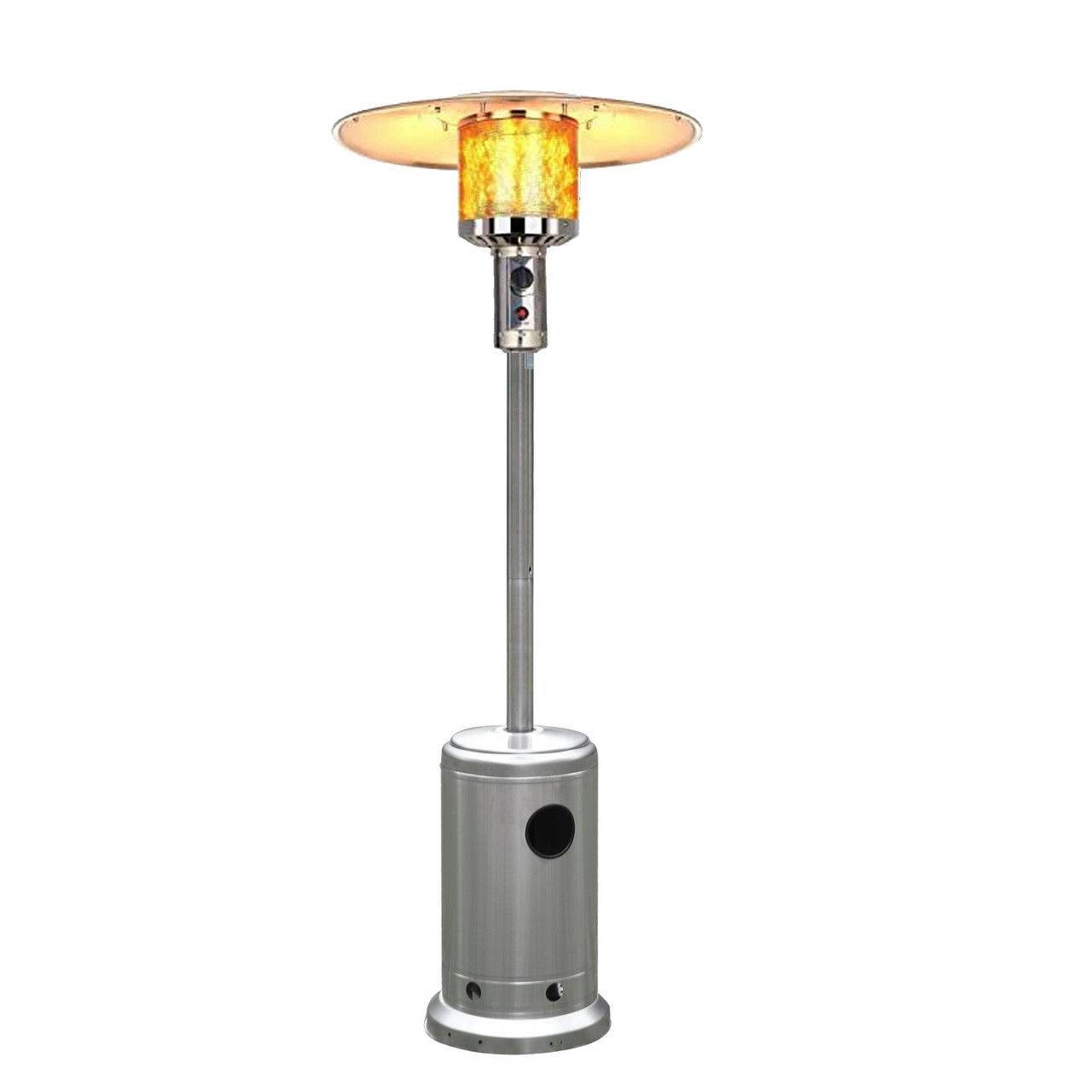 Stainless Steel Patio Heater Outdoor Propane Gas Floor Stand Heating 50000 BTU