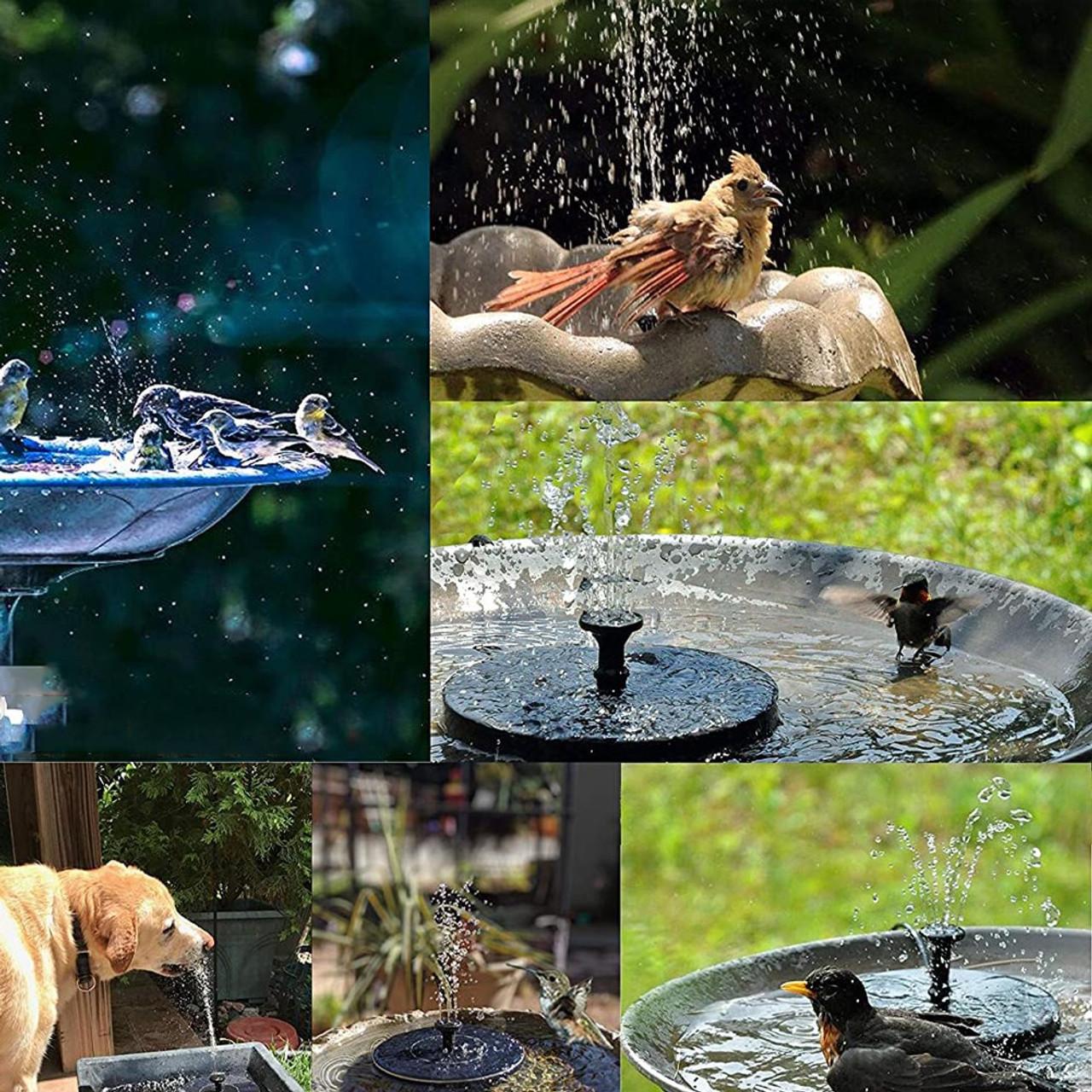 Solar Powered Fountain Water Pump Night Floating Garden Bird Bath Kit