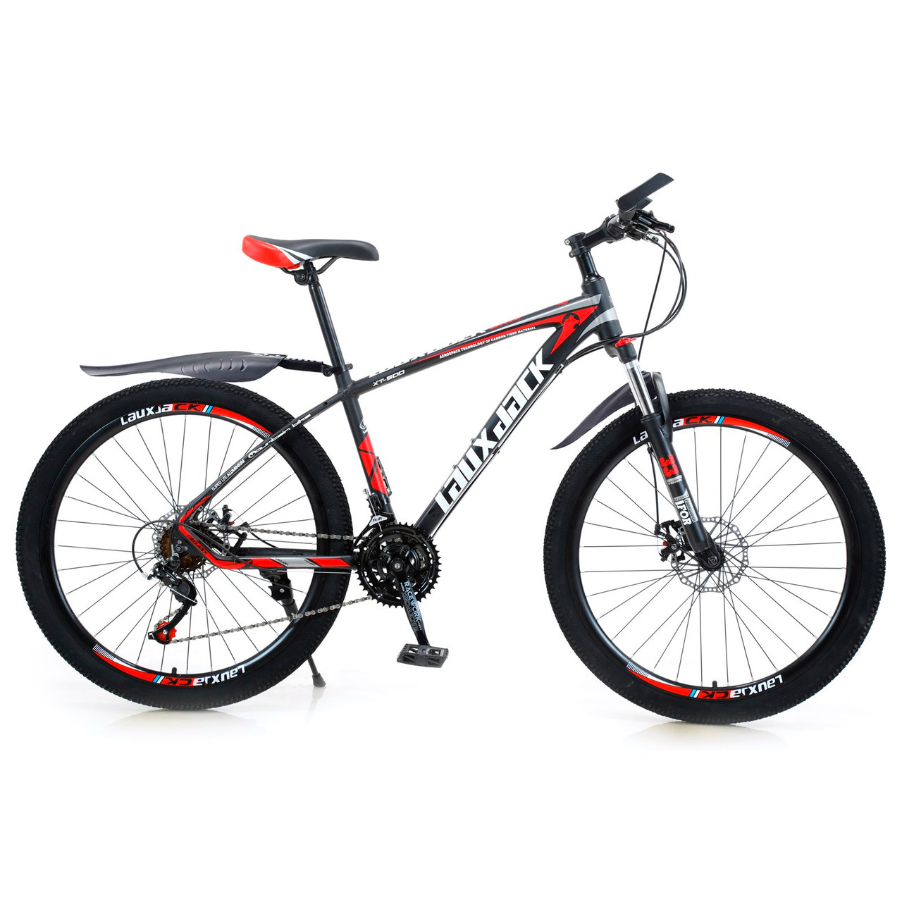 AUS 27.5 inches Wheels 21 Speed Unisex Adult Mountain Bike Bicycle MTB Black+Red