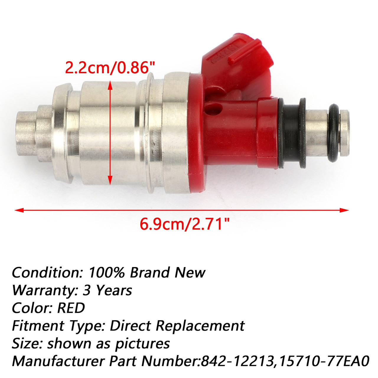 4Pcs Fuel Injector 15710-77EA0 842-12213 Fit For Honda Passport 2.6L 1994-1995
