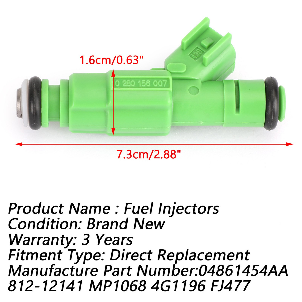 6pcs New Flow Matched Fuel Injectors 04861454AA 812-12141 Fit For Grand 2001-2007