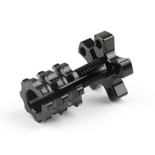 Universal 8mm Anodized Billet Aluminum Clutch Cable Adjuster Set, Black